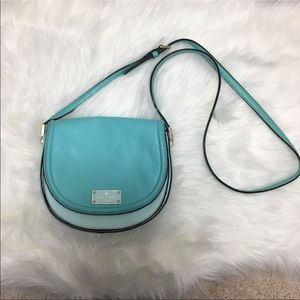 kate spade | Leather Turquoise Crossbody